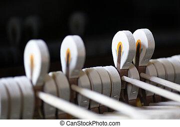 martillos, Steinway, magnífico, piano