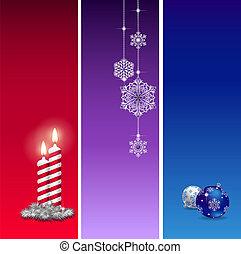 3 Christmas baners
