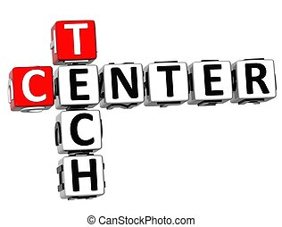 3D Tech Center Crossword on white background