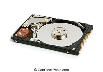 Hard disk on a white background