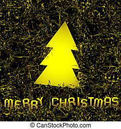 Original christmas background with golden christmas tree....