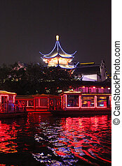 Qin Huai River - Night view of Qin Huai,NanJing,China