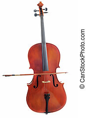 cello - beautiful violoncello isolated on a white background