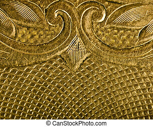 Highly detailed gold carved close
