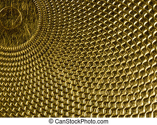 Highly detailed background in gold - Highly detailed...