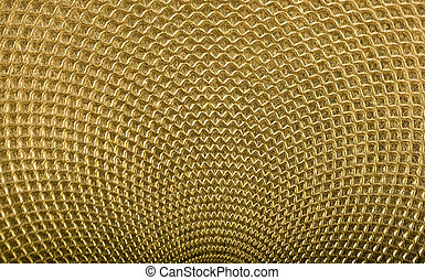 Highly detailed background in gold