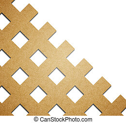 Abstract pattern paper craft  background.