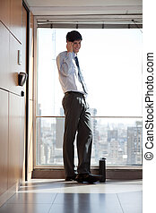 Young Businessman On Call