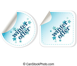 Special winter offer vector stickers - Special winter offer...