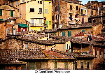 historisch, architectuur,  Siena