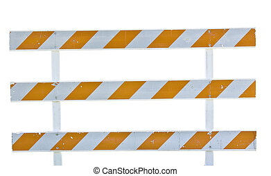 blockade - Road barrier isolated on white