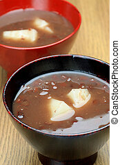 """zenzai  - This is called """"zenzai"""" with a Japanese cake."""