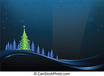 Christmas Night - This image is a vector file representing a...