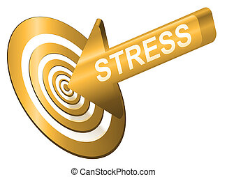 Target the stress - Illustrated stress concept depicting an...