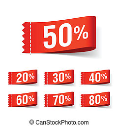 Discount labels - Vector illustration of discount labels