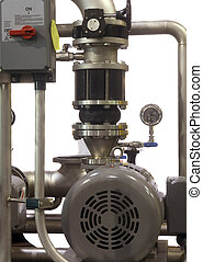 Details of Industrial Pump Parts - Close up of industrial...