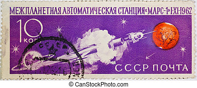 "interplanetary automatic station ""Mars-1"" - The old Soviet..."