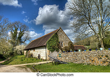 Cerne Abbas manor - A rural english country house with canon