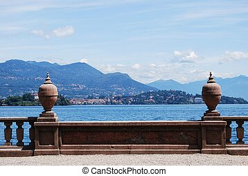 Lake Maggiore - Ornamental balustrade on Borromean Island...