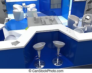 Exhibition Stand Interior Sample - Interiors Series  . 3D