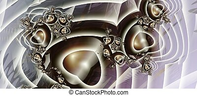 Hearts - Beautiful contrasting fractal background with...