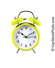 Alarm Clock - An alarm clock isolated ahgainsdt a white...