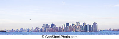 Lower Manhattan Skyline panarama, New York City