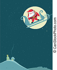 Santa skydiving