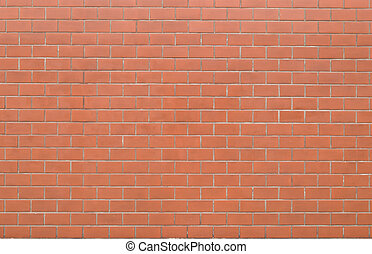 red brick wall texture in horizontal view
