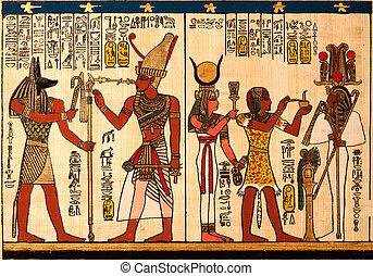 egipcio, papiro