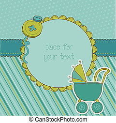 Baby Boy Arrival Card with Photo Frame and place for your...