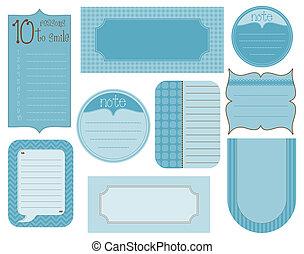 Vector set of design elements - vintage frames and tags