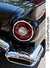 old american car - Old american car in a special meeting in...