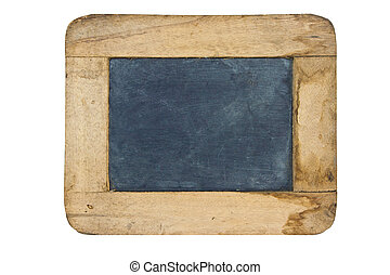 Old small blackboard isolate on white background