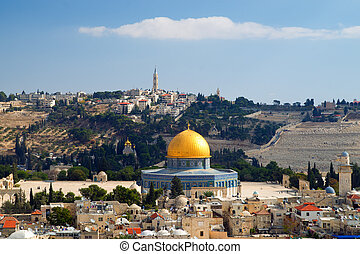 dome of the Rock in Jerusalem - Dome of the Rock, high angle...