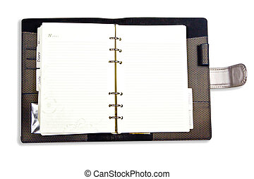 Dairy notebook isolate on white background