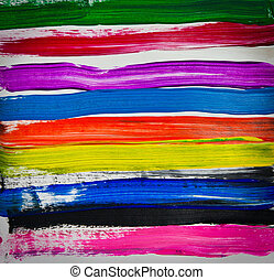 Multicolor hand painted on paper - Watercolor Multicolor...