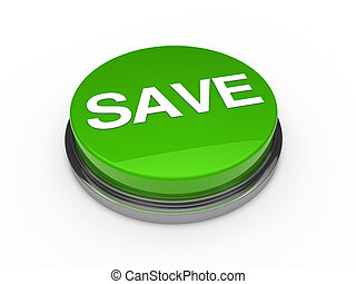 Green save button white background