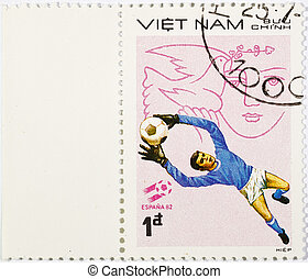 VIETNAM - CIRCA 1980s: A stamp printed in the Vietnam shows...