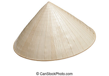 Asian conical hat make of bambour wood and palm leaves...