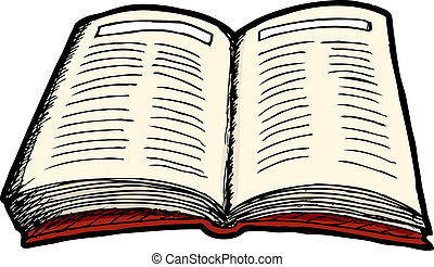Open Book - Illustration of an isolated generic open...