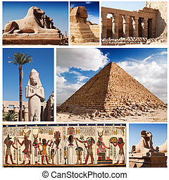 Egypt, sphinx and pyramids collection