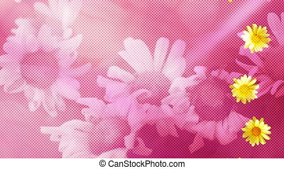 Flowers Textured Looping Background