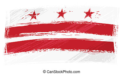 Grunge Columbia flag - District of Columbia flag created in...