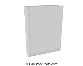 Blank White Book - 3d Image of a Blank White Book