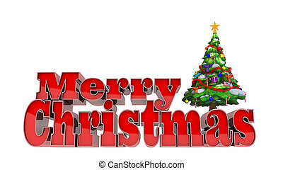 Merry Christmas - Isolated picture of the text Merry...