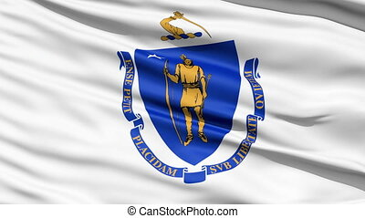 Flag Of The Commonwealth of Massachusetts, a state of the...