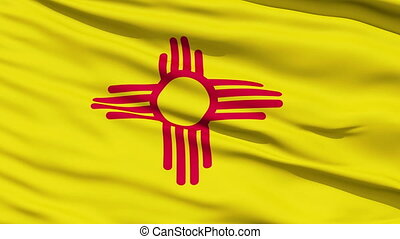 Waving Flag Of The US State Of New Mexico