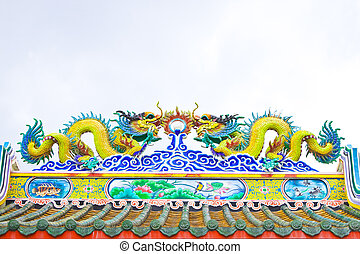 Roof by Chinas style,Chinese shrine