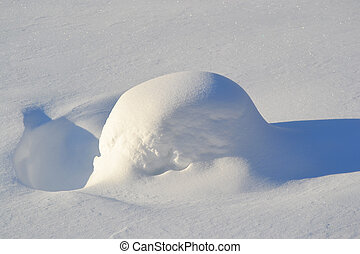 Snow-drift - Texture of hilly snowdrift with nice shadows